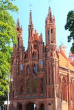 Vilnius, Lithuania. St. Anne's Church Royalty Free Stock Photography