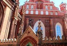 Vilnius, Lithuania. St. Anne's Church Stock Image