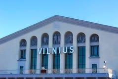 VIlnius Lithuania, Styczeń, - 07, 2017: Vilnius lotnisko przy słonecznym dniem Fotografia Royalty Free