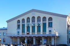 VIlnius Lithuania, Styczeń, - 07, 2017: Vilnius lotnisko przy słonecznym dniem Zdjęcie Royalty Free