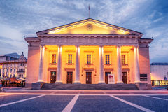 Vilnius, Lithuania: the Town Hall, Lithuanian Vilniaus rotuse, in the square of the same name Stock Photos