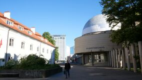 Vilnius, Lithuania, view of the planetarium in the morning light