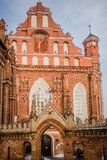 Vilnius, Lithuania. View Of Roman Catholic Church Of St. Anne An stock photography