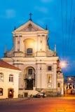 Vilnius Lithuanie Église catholique baroque antique de St Teresa Photos stock