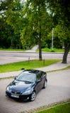 VILNIUS, LITHUANIE - 10 JUILLET 2012 : Lexus Car de luxe Herbe verte et parc à l'arrière-plan Photos libres de droits