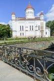 Vilnius, Lithuanie, l'Europe, la cathédrale orthodoxe images stock