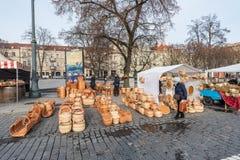 VILNIUS, LITHUANIE - 4 MARS 2017 : Marché de Kaziukas à Vilnius Photos stock