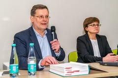 VILNIUS, LITOUWEN - FEBRUARI 21, 2019: De internationale Vilnius-Boekenbeurs royalty-vrije stock afbeelding