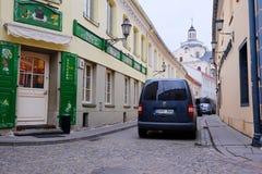 VILNIUS, LITOUWEN, 17 November, 2014: mening van de Vilnius-stad Royalty-vrije Stock Foto's