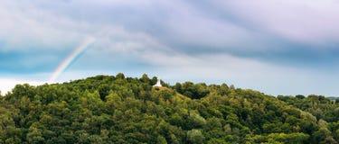 Vilnius Litouwen Panorama van Monument Drie Kruisen Royalty-vrije Stock Afbeeldingen