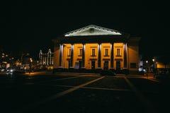 Vilnius, Lituânia: a câmara municipal, Vilniaus lituano foto de stock
