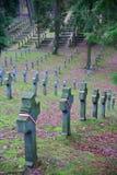 VILNIUS, LITUÂNIA - 31 DE DEZEMBRO DE 2016: Cemitério de Antakalnis com o cemitério polonês do ` dos soldados fotos de stock royalty free