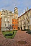 VILNIUS, LITUÂNIA - 29 DE DEZEMBRO DE 2016: O pátio do obervatório imagens de stock royalty free