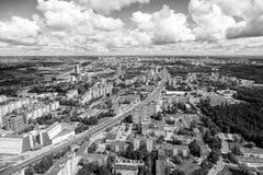 Vilnius, Lituânia - 19 de julho de 2016: Vista aérea de Vilnius Imagens de Stock