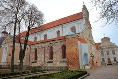 VILNIUS, LITUÂNIA: Igreja Franciscan da suposição da Virgem Maria abençoada fotografia de stock