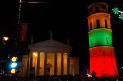 Vilnius, Lituânia, o 16 de fevereiro, Dia da Independência foto de stock