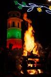 Vilnius, Lituânia, o 16 de fevereiro, Dia da Independência imagens de stock