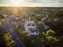 VILNIUS, LITUANIA - 12 AGOSTO 2018: Chiesa della nostra signora del segno a Vilnius, Lituania immagini stock libere da diritti
