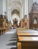 Vilnius, Lituania, Europa, la chiesa di St Anne Immagini Stock