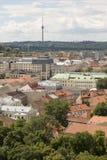 Vilnius, Lituania - 19 luglio 2016: Città moderne di panorama di Vilnius Immagini Stock Libere da Diritti