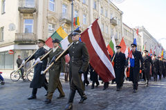 VILNIUS - MARCH 11 independence of Lithuania Royalty Free Stock Photography