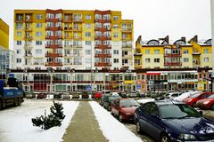 Vilnius miasta domy w Zirmunai Nord gromadzkim mieście Zdjęcie Royalty Free