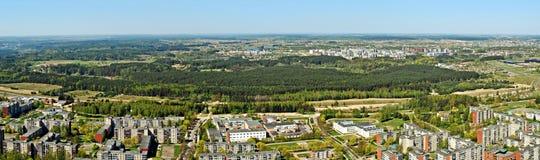Vilnius miasta kapitał Lithuania widok z lotu ptaka Zdjęcia Royalty Free
