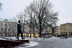 Vilnius miasta rzeźba Vincas Kudirka Autor hymnu litwinu republika zdjęcie royalty free