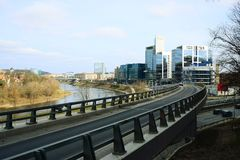 Vilnius miasta transport w Gelezinis Vilkas ulicie Obraz Royalty Free