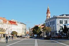 Vilnius miasta urzędu miasta miejsce na Wrześniu 24, 2014 Obraz Stock