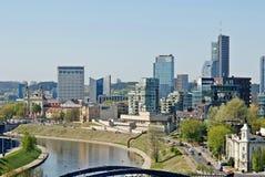 Vilnius miasta widok od Gediminas kasztelu Zdjęcia Stock