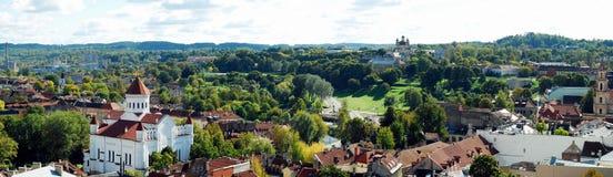 Vilnius miasta widok z lotu ptaka od Vilnius uniwersyteta wierza Obraz Royalty Free