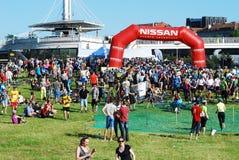 Vilnius miasta wydarzenia sportowego Vilnius otwarty wyzwanie obraz royalty free