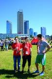 Vilnius miasta wydarzenia sportowego Vilnius otwarty wyzwanie fotografia stock