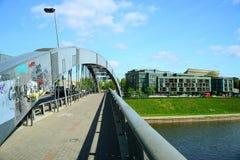 Vilnius Mindaugas bridge over Neris river Stock Photos