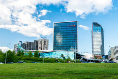 Vilnius modern buildings Royalty Free Stock Photos