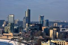 Vilnius modern business center in winter Royalty Free Stock Images