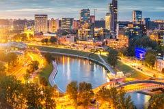 Vilnius modern cityscape Royalty Free Stock Photography