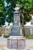 vilnius Monumento al compositor Stanislaw Moniuszko Imagen de archivo libre de regalías