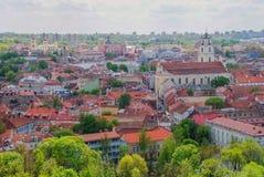 Vilnius na primavera imagem de stock