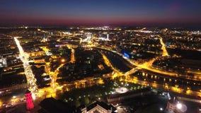 Vilnius nachts stockbild