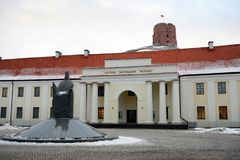 Vilnius National museum and Castle Tower Royalty Free Stock Photography