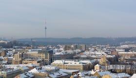 Vilnius nevado fotografia de stock