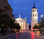 Vilnius at night. Lithuanian capital Vilnius at night Stock Image