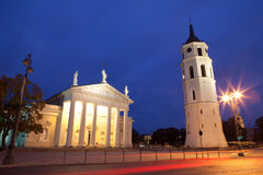 Vilnius at night Stock Photos