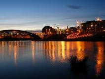 Vilnius at night royalty free stock photos