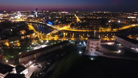 Vilnius at night Royalty Free Stock Images
