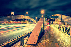Vilnius night stock image
