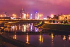Vilnius night scene Stock Image