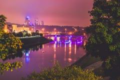 Vilnius night scene stock images